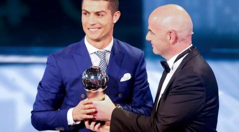 Cristiano Ronaldo awarded FIFA player of the year