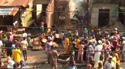 Fire Razes Shasah Market in Oyo