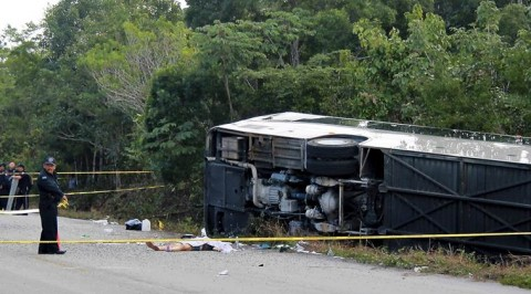 At least 12 tourists dead in bus crash on excursion