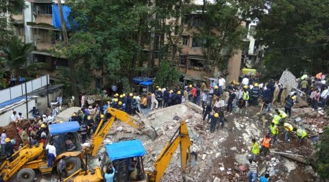 30 feared trapped as 4-storey building collapses in India