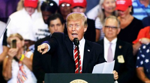 Trump blames media for division in U.S