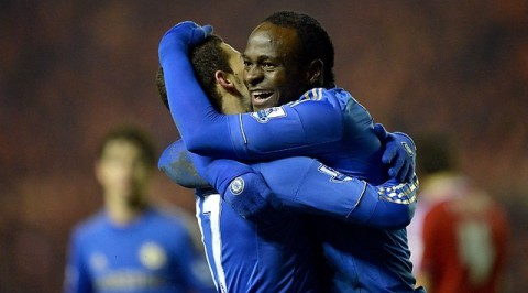 Moses set for fourth FA Cup clash Vs Man United