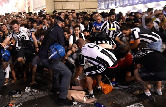 Thousands Juventus fans injured in stampede