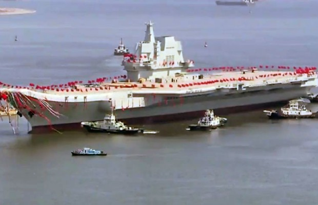 China launches domestically built ship