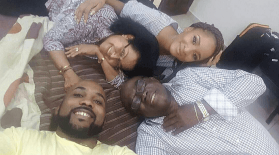 BankyW shares family photo with Adesua