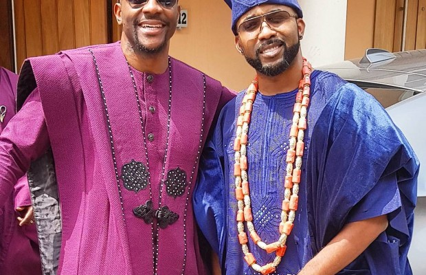 #BAAD2017: Banky W reacts to Ebuka's agbada outfit