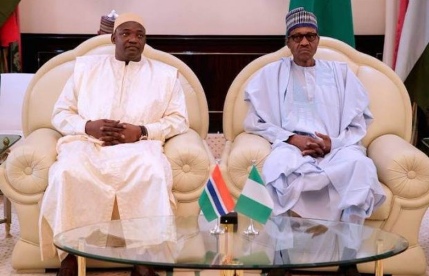 Buhari receives Barrow
