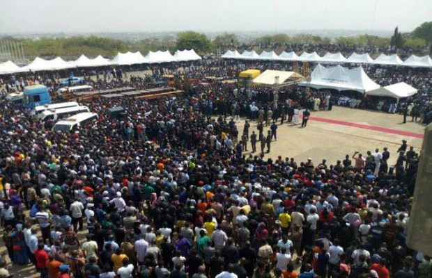 Mass burial for 73 victims amidst tears