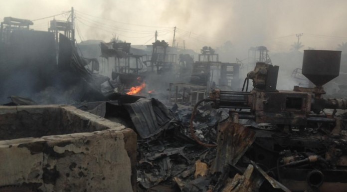 Multi-billion factories burnt to ashes in Ibadan