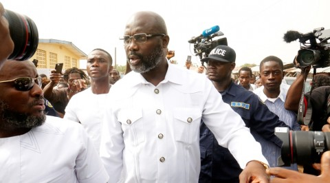 Ex-Ballon D' or winner, George Weah wins Liberia election