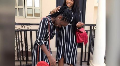 Mercy Aigbe and daughter step out in matching dress (photos)