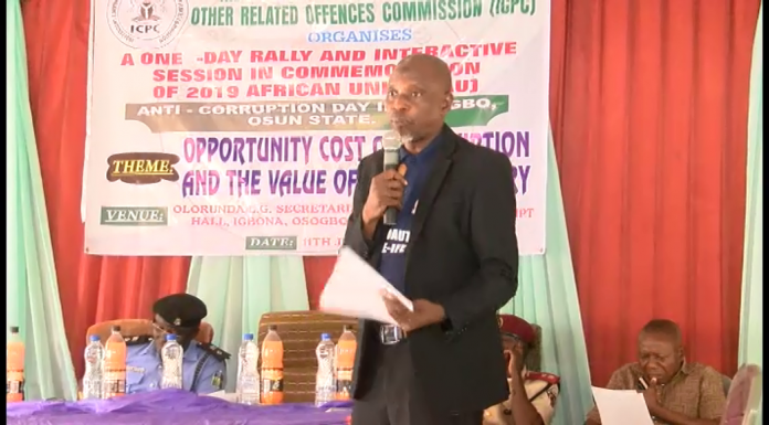 ICPC charges Nigerians on sustenance of anti corruption war