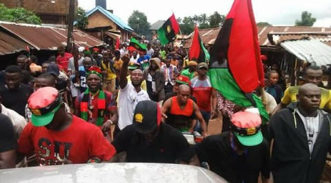 IPOB protesters clash with police