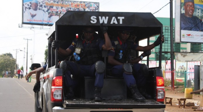 NSCDC  impound trucks loaded with crude oil