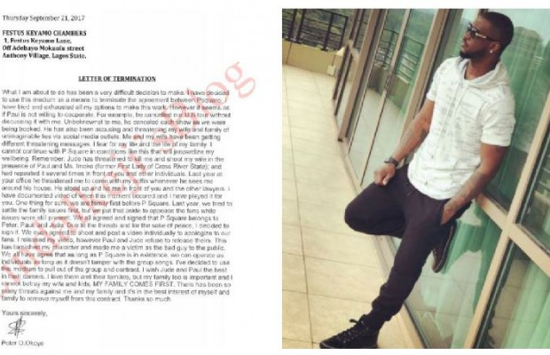 Peter Okoye breaks from the PSquare music group