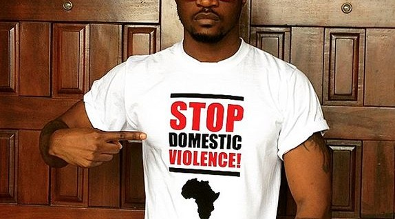 Peter Okoye stands against domestic violence