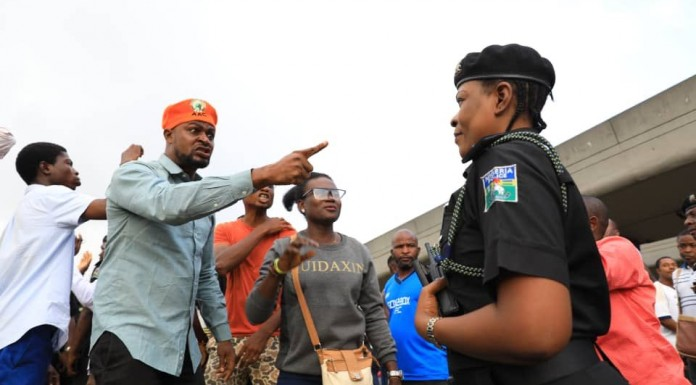 Police disperse 'revolution now' protesters in Lagos