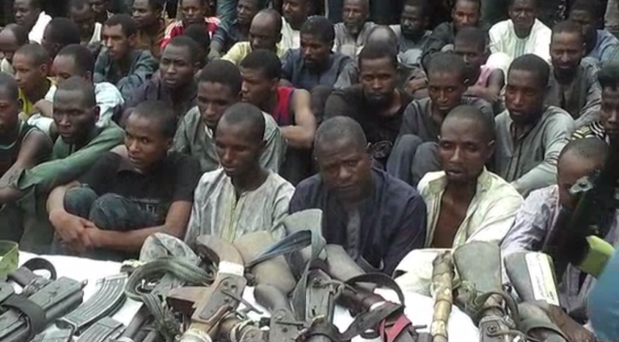 Police parade 93 kidnappers in Kaduna
