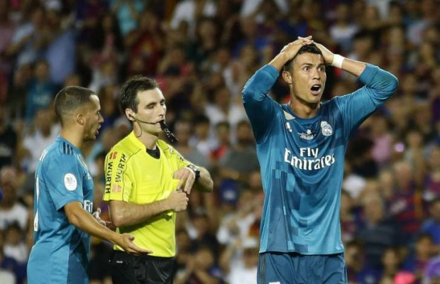 Ronaldo sent off as Madrid edge Barca in Spanish Super cup 1st leg
