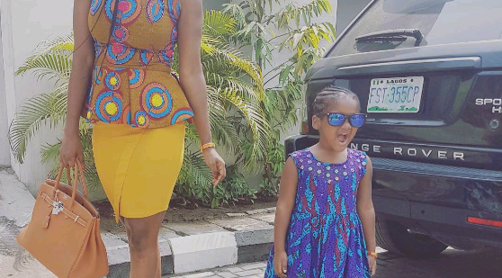 Tuface's wife, daughter look elegant in Ankara outfits