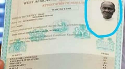 Buhari finally receives WAEC result