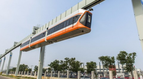 Sky train begins trail in China (Photos)