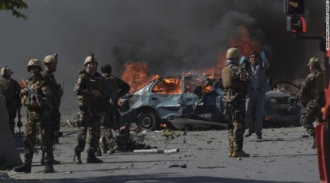 Bomb blast kills 9 people near Afghan border