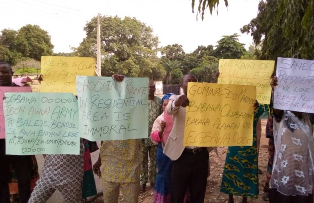 Oyo residents protest against army shooting range