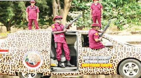 Amotekun Seizes Sacks of Charms, Weapons from Suspected Kidnappers