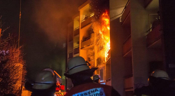Fire engulfs housing shelter for asylum seekers