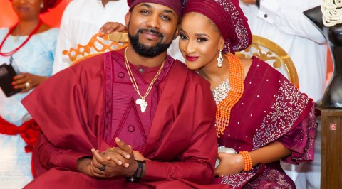 #BAAD2017 Banky W and Adesuwa traditional wedding (Photos)