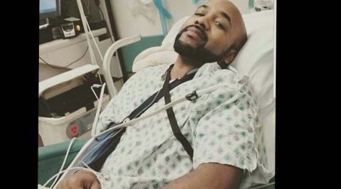 Banky W recovering after a successful skin cancer surgery (Photos)