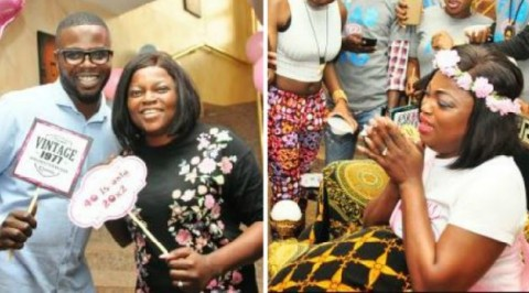 Funke Akindele gets surprise birthday party (photos)