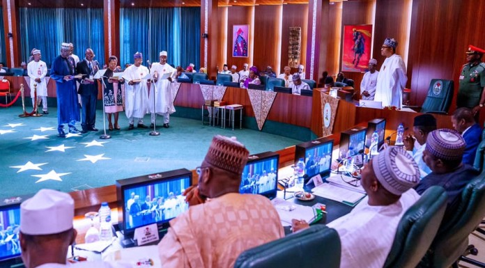 Buhari swears in 9 new Perm Secs