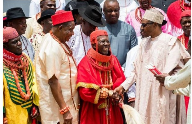 Buhari receives Urhobo traditional rulers
