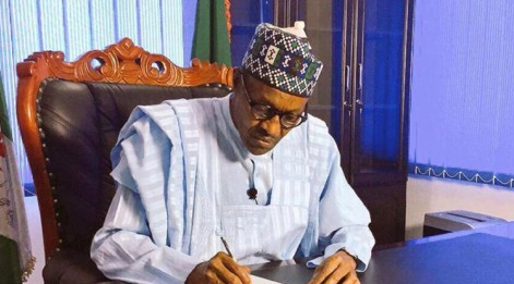 Buhari signs 8 new bills into law