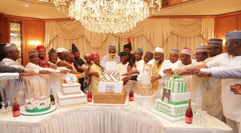Photos from  President Buhari's surprise birthday party