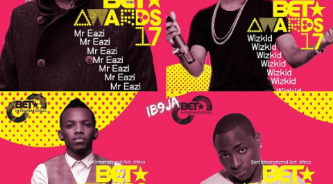 Davido, Wizkid, Tekno and others battles BET Award