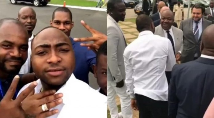 Davido receives VIP reception in Garbon