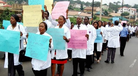 UCH staff protest non-payment of 13 months salaries