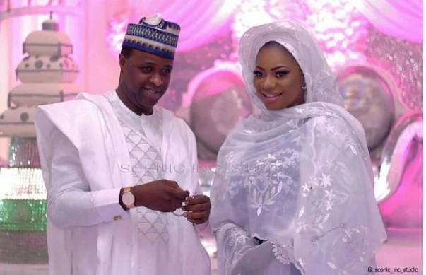 Femi Adebayo new wife wedding photo