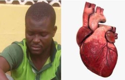 Man buys 3 human hearts to prepare charms