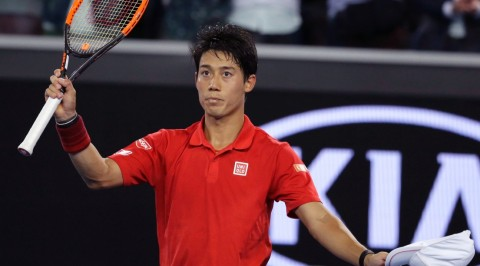 Tennis:Nishikori replaces Nadal in top 5