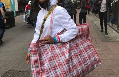 Keke Palmer rocks 'Ghana must go' bag