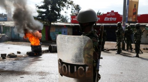 Kenyan election: Police fires teargas at protesters