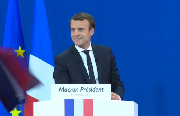 Newly elected french president thanks citizens