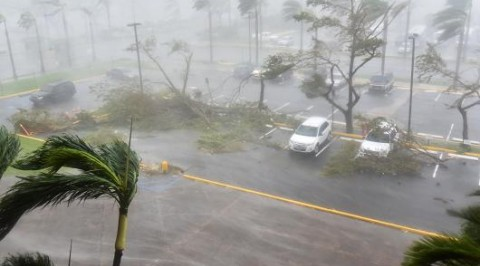 Hurricane maria hits part of Dominica Republic