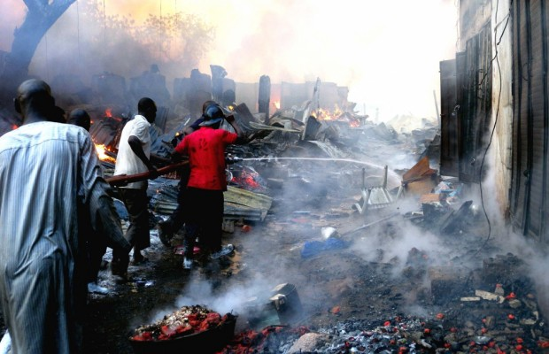 Fire raze mortuary in Anambra