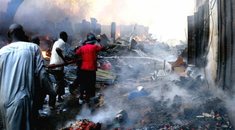 Fire razes another market