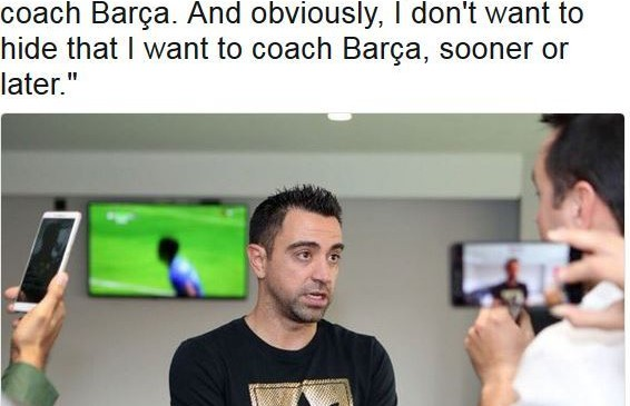 Xavi: My dream is coach FC Barcelona